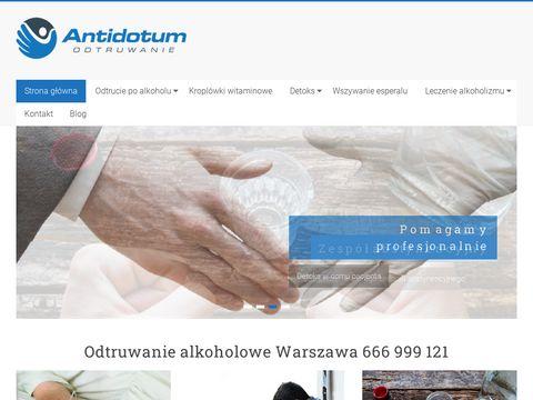 Odtrucie.warszawa.pl alkoholowe