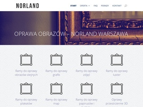 Oprawanorland.pl obrazów Warszawa