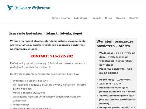 Osuszacze-wynajem.pl - wypożyczalnia