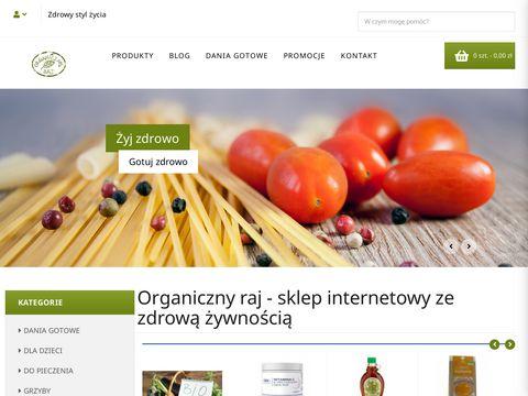 Organicznyraj.pl sklep ze zdrową żywnością