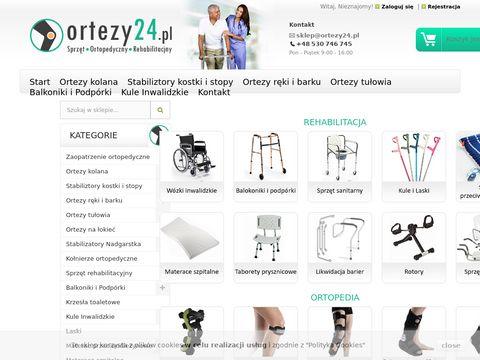 Ortezy24.pl sklep ortopedyczny sprzęt