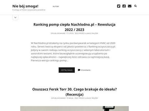 Niebojsmoga.pl oczyszczanie powietrza w Polsce