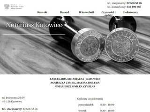Notariuszjesionowa.pl kancelaria notarialna Katowice
