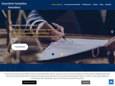 Klauzińska Jolanta polecany notariusz Nysa