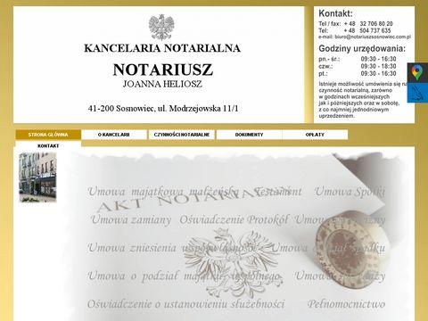 Notariuszsosnowiec.com.pl Joanna Heliosz