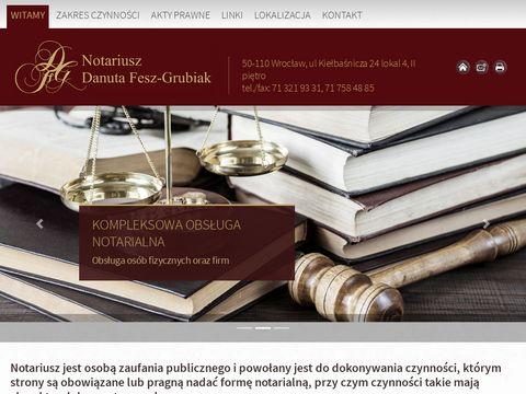 Danuta Fesz-Grubiak Notariusz