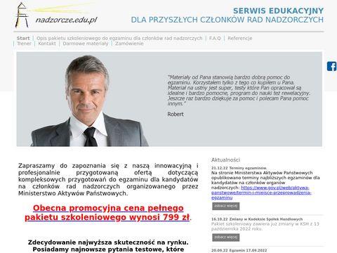 Nadzorcze.edu.pl - kurs - zdaj egzamin z nami