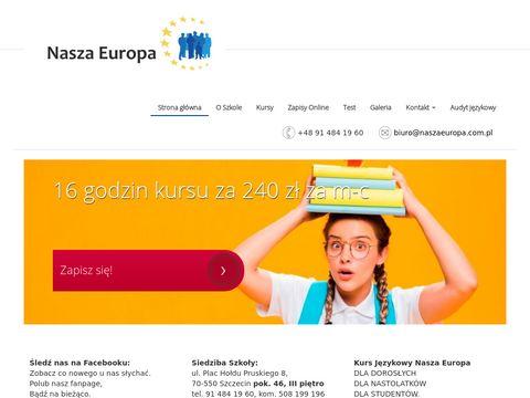 NaszaEuropa.com.pl - dofinansowane kursy Szczecin