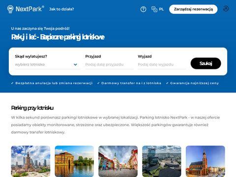 Parking lotnisko Warszawa - nextpark.pl