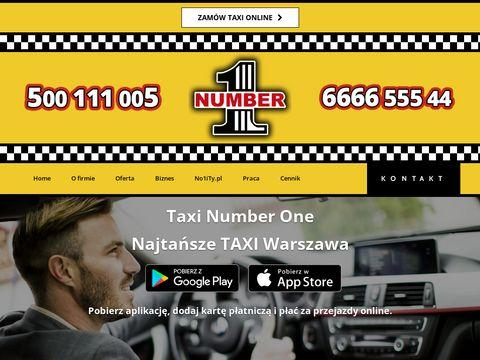 Numberone.com.pl taxi Warszawa