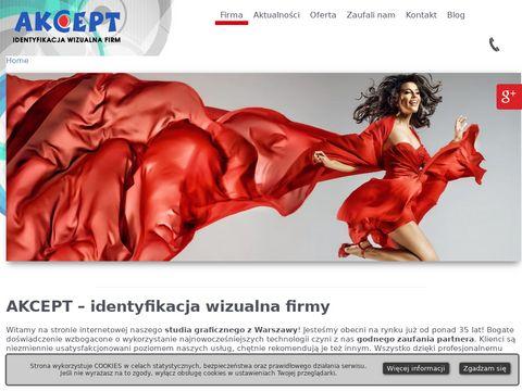 Akcept.com.pl wizytówki Warszawa