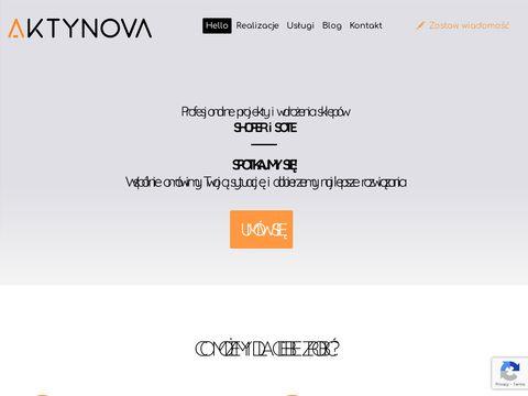 Aktynova sklepy shoper Kraków pozycjonowanie