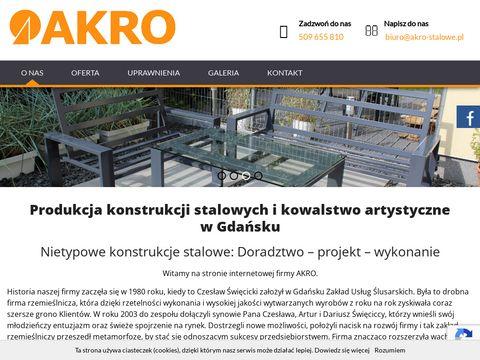 AKRO konstrukcje stalowe, usługi spawalnicze