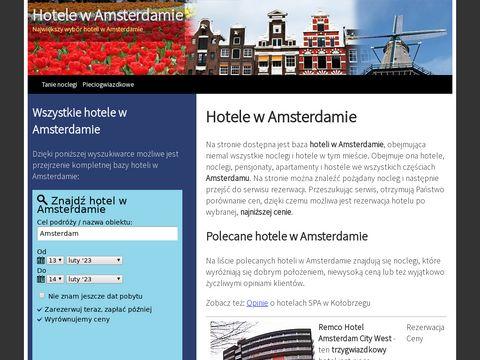 Hotele i noclegi w Amsterdamie