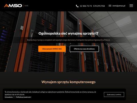 Amsorent.pl wynajem komputerów