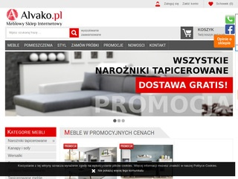 Alvako.pl narożniki tapicerowane