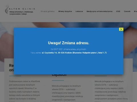 Alterklinik.pl wlewy z witaminy c Kraków