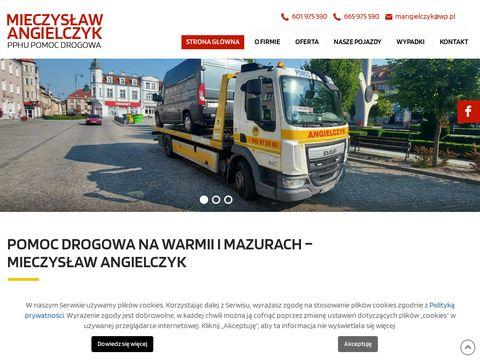 Angielczyk.com.pl pomoc drogowa Olsztyn