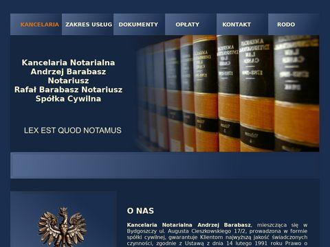 Notariusz Andrzej Barabasz usługi notarialne