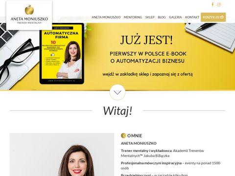 Anetamoniuszko.pl trener mentalny