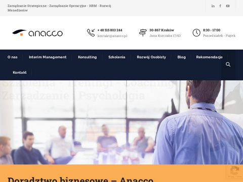Anacco.pl - szkolenie zarządzanie czasem