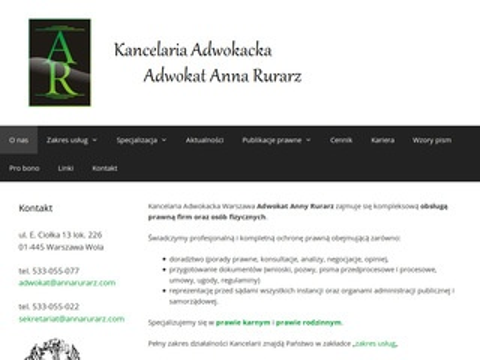 Annarurarz.com adwokat Warszawa