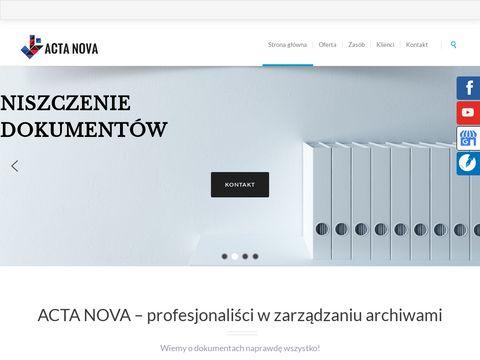 Acta Nova niszczenie dokumentów elektronicznych