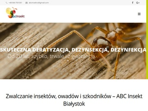 Abcinsekt.pl dezynsekcja Białystok
