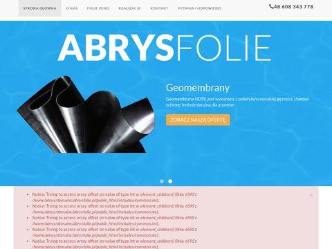 Abrysfolie.pl - folie pehd i geomembrany