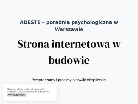 Adeste.pl psychoterapia Warszawa