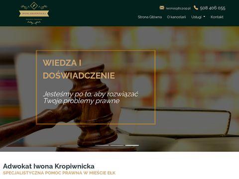 Adwokat-kropiwnicka.pl prawnik Ełk