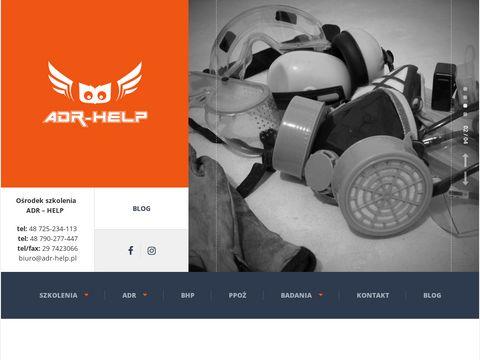 Adr-help.pl szkolenia kierowców