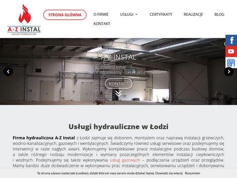 Azinstal.com.pl usługi hydrauliczne Łódź
