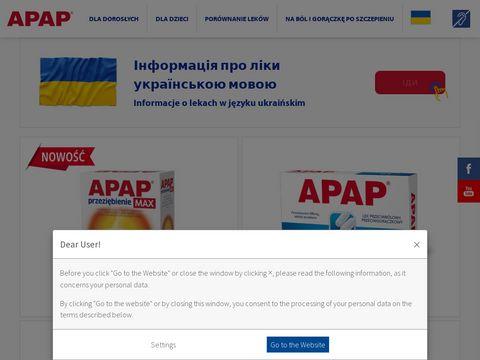 Apap.pl idealny w walce z bólem i gorączką