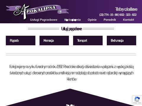 Apokalipsa-sc.pl usługi pogrzebowe Legionowo
