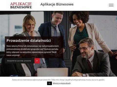 Rozwiń biznes z aplikacjebiznesowe.com