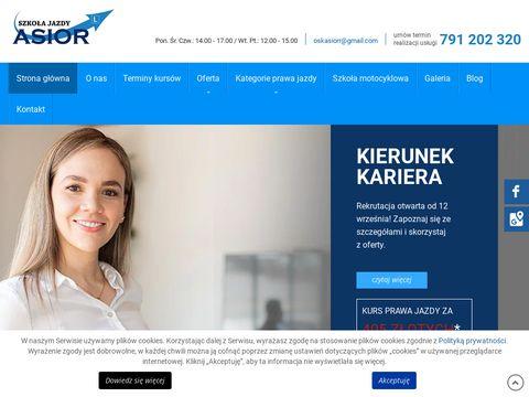 Asior.com.pl nauka jazdy