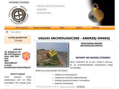 Andrzej Smaruj - usługi archeologiczne