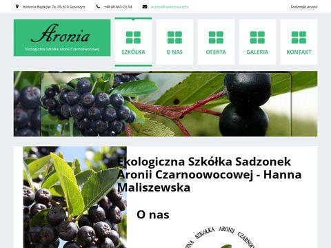 Aronia.sadzonka.info Ekologiczna szkółka aronii