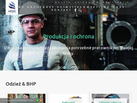 Arsel-bhp.pl odzież robocza artykuły