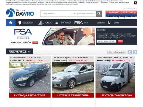 Aukcje.dawro.pl Aukcje komornicze samochodów