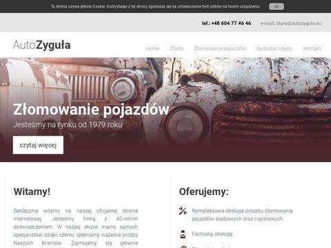 Autozygula.eu złomowanie samochodów Tarnów