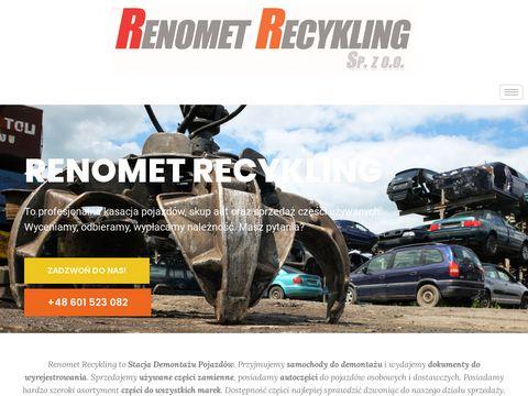 Renomet Recykling Sp. z o.o. recykling pojazdów