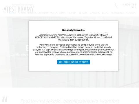 Atest-bramy.pl Bramy garażowe Warszawa