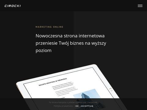 Cirocki.pl - wykonywanie stron w Żukowie