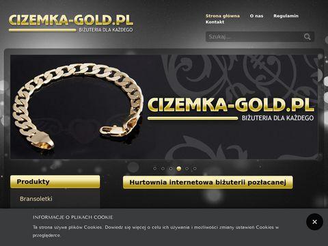 Cizemka-gold.pl importer biżuterii pozłacanej