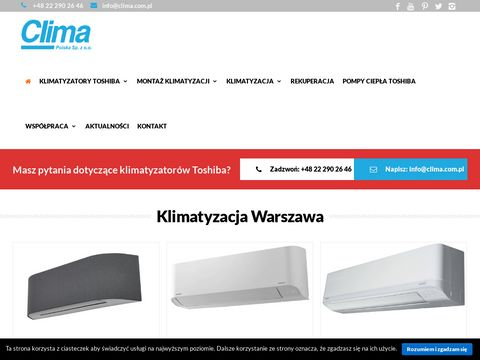 Clima.com.pl klimatyzacja Warszawa