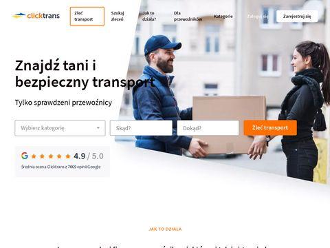 Clicktrans.pl - serwis aukcji transportowych