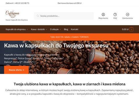 Cafessima.pl kapsułki do ekspresu