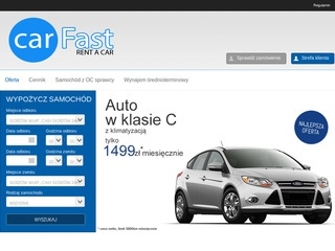 Carfast.pl - wypożyczalnia aut Gorzów